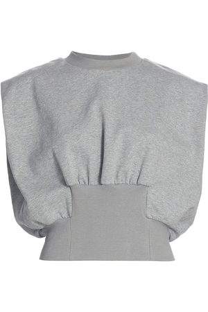 3.1 Phillip Lim Women's French Terry Shirred Top - Grey Melange - Size Medium