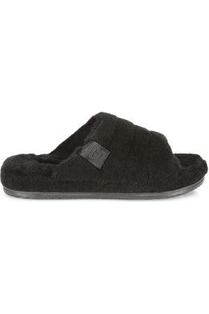 UGG Men Flat Shoes - Men's Fluff You Faux Fur & Sheepskin Slippers - - Size 8