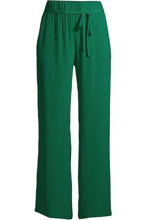 SEVENTY BY SERGIO TEGON Women Stretch Pants - Women's Stretch-Silk Paperbag Pants - Verde - Size 14
