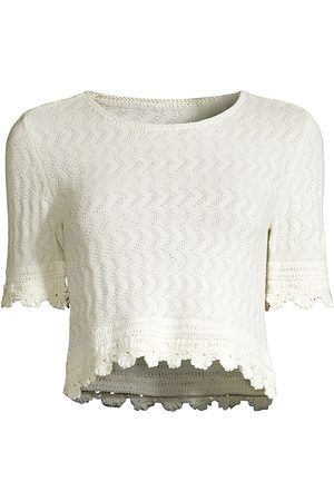 Victor Glemaud Women Tops - Women's Floral Crochet Top - Star - Size Small