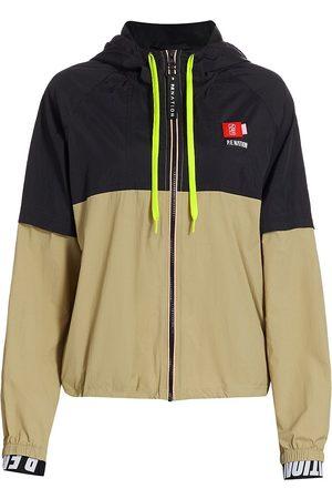 P.E Nation Women Jackets - Women's Propel Sports Jacket - Olive Grey - Size Small