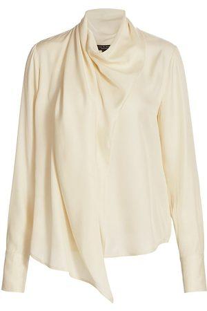 RAG&BONE Women T-shirts - Women's Halle Draped Top - Ivory - Size XS