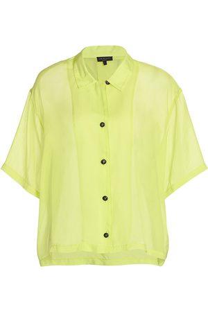 RAG&BONE Women T-shirts - Women's Reed Oversized Shirt - Lime - Size XL