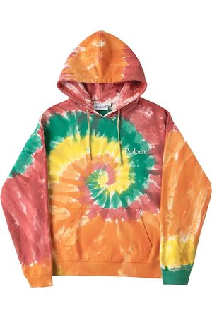 Profound Men's Tie-Dye Rainbow Swirl Hoodie - Washed Multi - Size Small