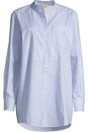 Tory Burch Women's Striped Oxford Shirt - Dusk - Size Large