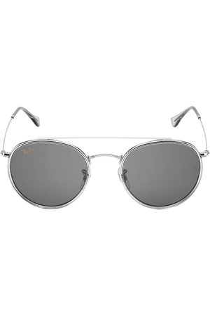 Ray-Ban Men Round - Men's RB3647 51MM Round Aviator Sunglasses