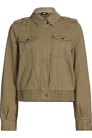 Paige Women's Milan Hemp Cotton Jacket - Cactus - Size XL