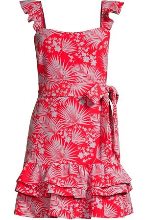 LIKELY Women's Psychedelic Floral Mini Charlotte Dress - Lilac Scarlet - Size 10