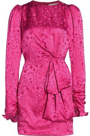 SALONI Women's Debbie Long Sleeve Dress - Hot Fuchsia - Size 2