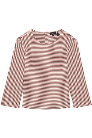 THEORY Women's Lowell Striped T-Shirt - Sedona Multi - Size Small