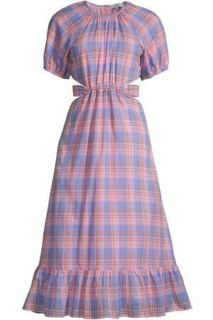 LIKELY Women's Payson Plaid A-Line Dress - Lilac Sachet - Size 12