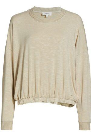 Splendid Women's Bubble Knit Pullover Sweater - Sand - Size XS