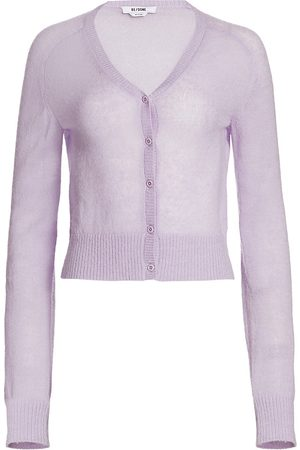 RE/DONE Women's 60s Slim Cardigan - Lilac - Size Small