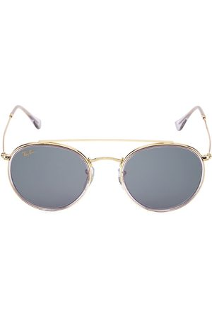 Ray-Ban Men's RB3647 51MM Round Aviator Sunglasses