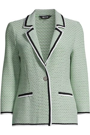 Misook Women's Multi-Stitch Textured Knit Blazer - Spring - Size XS