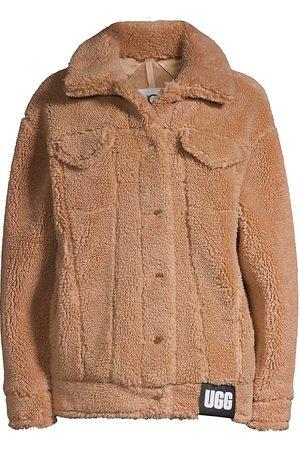 UGG Women's Frankie Faux Shearling Trucker Jacket - Camel - Size Medium