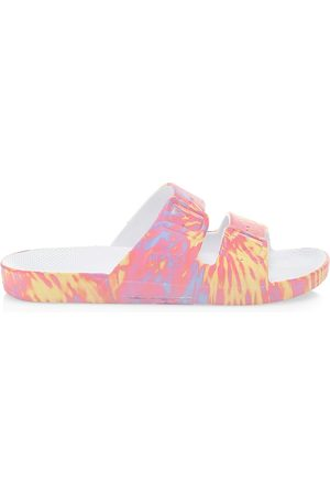 Freedom Moses Women's Tie-Dye Two-Strap Slides - Multi - Size 10 Sandals