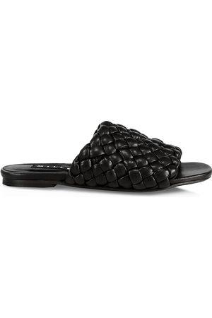 SIMON MILLER Women's Woven Vegan Leather Slides - - Size 6 Sandals