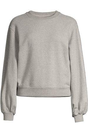 UGG Women's Brook Balloon-Sleeve Crewneck Sweatshirt - Grey Heather - Size XL