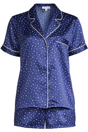 In Bloom Women's Cypress 2-Piece Short Pajama Set - Royal Dot - Size Large