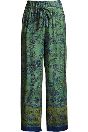 SEVENTY BY SERGIO TEGON Women's Paisley Straight-Leg Pants - Verde - Size 10