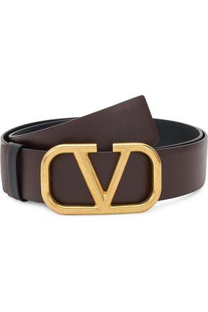 VALENTINO Men's Garavani V Logo Leather Belt - Multi - Size 44
