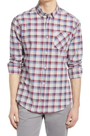 Tact & Stone Men's Lightweight Organic Cotton Button-Down Shirt
