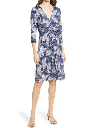 Ilse Jacobsen Women's Floral Print Twist Front Jersey Dress