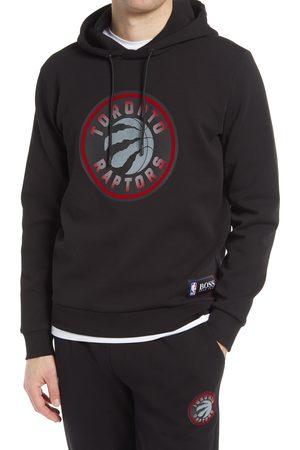 HUGO BOSS Men Hoodies - Men's X Nba Wbounce 2 Toronto Raptors Logo Hooded Sweatshirt