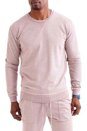 miss goodlife Men's Men's Slim Micro Terry Crewneck Sweatshirt