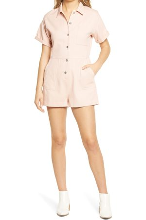 ALL IN FAVOR Women's Oversize Button-Up Romper