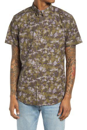 BP. Men's Camo Short Sleeve Button-Up Shirt