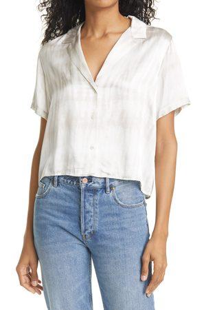 Rails Women's Maui Satin Short Sleeve Button-Up Shirt