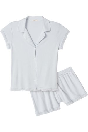 Eberjey Women's Iona Ruffle Trim Pajamas