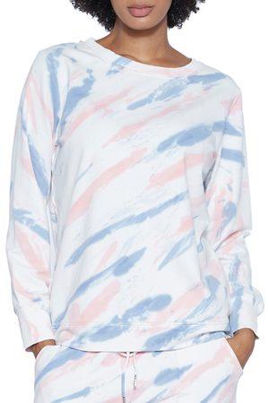 WASH LAB Women's Tie Dye Surface Sweatshirt