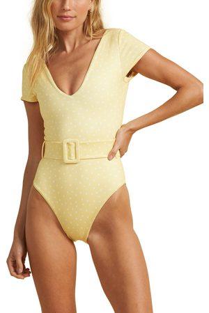 Billabong Women's Sundipped Cap Sleeve One-Piece Swimsuit