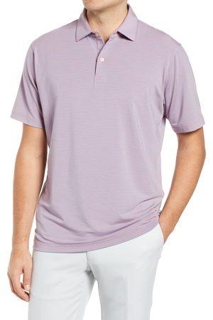 Peter Millar Men's Drirelease Stripe Short Sleeve Performance Jersey Polo