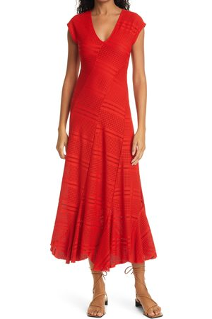 FUZZI Women's Texture Knit Midi Dress