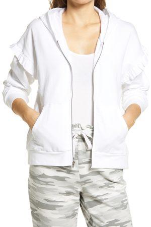 GIBSONLOOK Women's Ruffle Detail Zip Hoodie