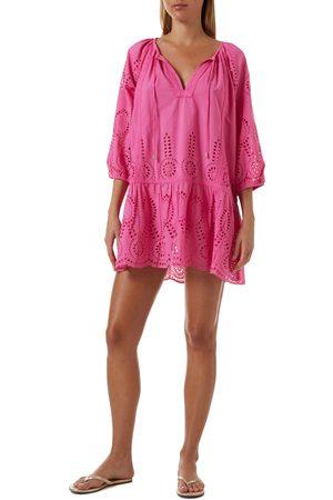 Melissa Odabash Women's Ashley Eyelet Detail Cotton Cover-Up Tunic