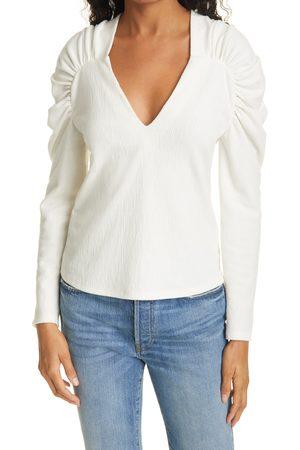 REBECCA TAYLOR Women's Slim Cotton Blend Knit Top