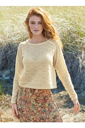 Peruvian Connection Pima Cotton Ogunquit Lace Top