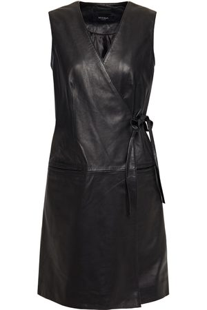 Muubaa Woman Leather Mini Wrap Dress Size 10