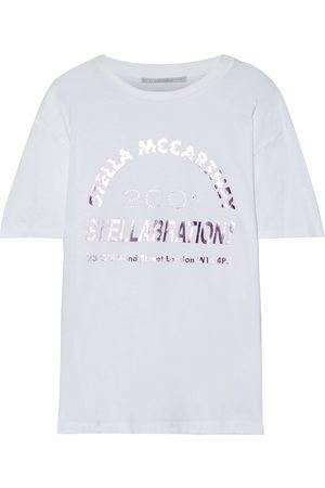 Stella McCartney Woman Metallic Printed Cotton-jersey T-shirt Size 36
