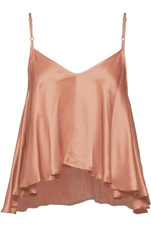 ENZA COSTA Woman Satin Peplum Camisole Copper Size 0