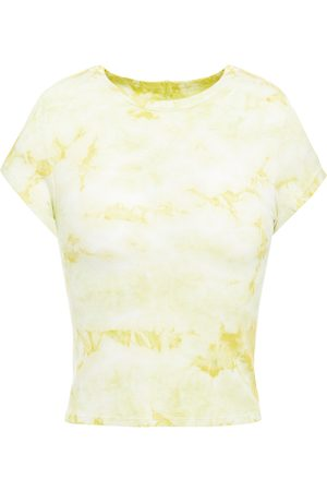 ENZA COSTA Woman Cropped Tie-dyed Ribbed Jersey T-shirt Pastel Size L