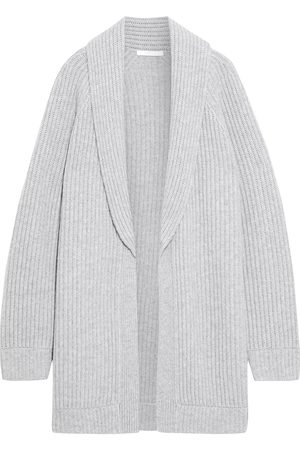Helmut Lang Woman Ribbed Wool And Cashmere-blend Cardigan Light Size L
