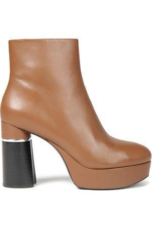3.1 Phillip Lim Woman Ziggy Leather Platform Ankle Boots Light Size 36