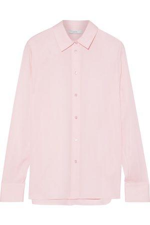Vince Woman Silk-blend Crepe De Chine Shirt Baby Size L