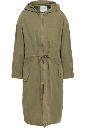 American Vintage Woman Sopper Cotton-gabardine Hooded Parka Army Size XS/S